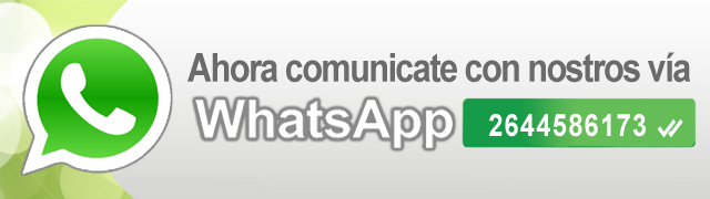 Ahora comúnicate con nosotros vía Whatsapp - 2644586173
