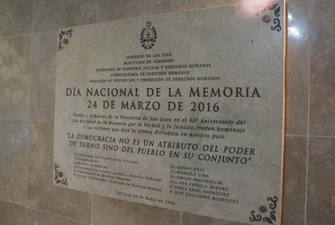 DÍA DE LA MEMORIA: llegarán documentos sobre la dictadura en San Juan