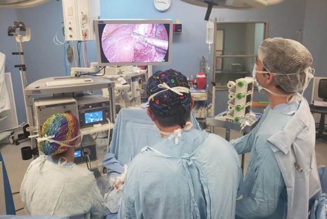 Realizaron en el Rawson inéditra cirugía laparoscópica