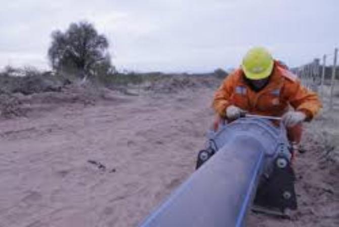 La obra de agua potable para La Planta-Marayes está al 80 por ciento