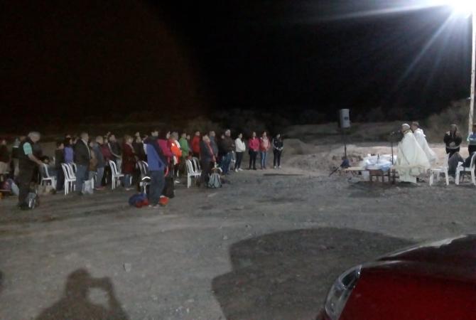 Una multitud de jóvenes celebró las pascuas en las Sierras Azules