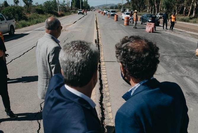 Estiman que en 40 días la ruta 40, dañada por el sismo, estará habilitada