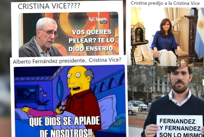 Los mejores memes sobre la candidatura a vicepresidente de Cristina Kirchner
