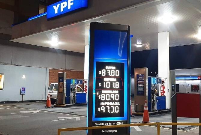 En San Juan, el litro de nafta ya superó los 100 pesos