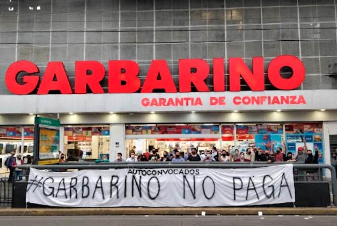 Caótica situación de Garbarino: no pagan sueldos y les cortaron la luz