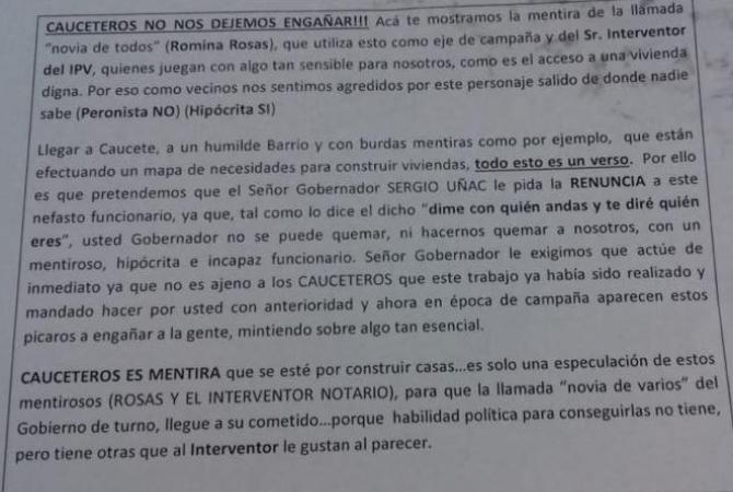 Romina Rosas denunció una campaña sucia en su contra