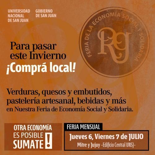 Vuelve la Feria de la Economía Social y Solidaria en la UNSJ