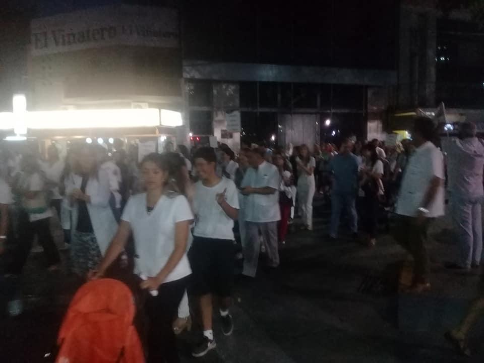Numerosa  marcha de médicos por más seguridad en hospitales