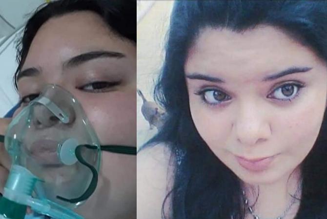 La joven de 20 años internada con Covid otra vez pide solidaridad