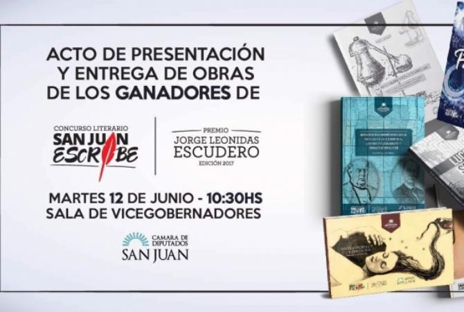 """Presentarán libros ganadores del """"San Juan Escribe"""" edición 2017"""