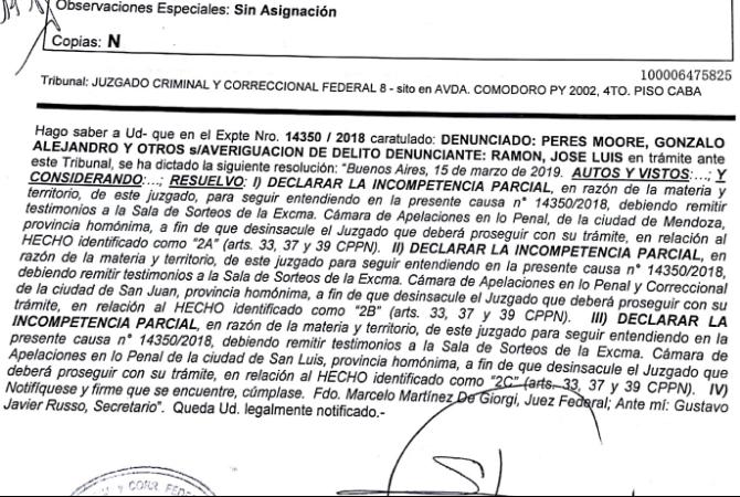 En la denuncia contra ECOGAS, podría entender el juez Rago