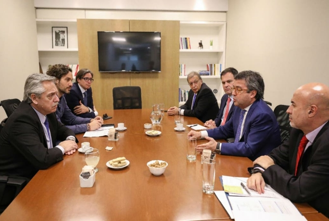 Alberto Fernández recibió al presidente del BID
