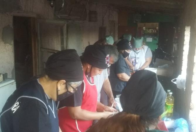 Cáritas salió a asistir a damnificados por el terremoto