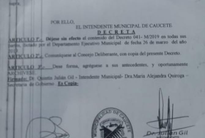 El decreto de Gil que anula los nombramientos del escándalo