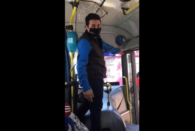Vídeo viral: chofer de colectivo bajó por la fuerza a un estudiante