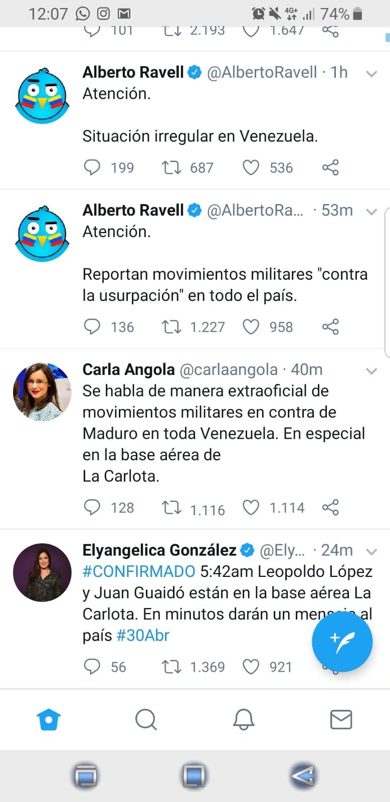 En Venezuela hablan de movimientos militares contra Maduro