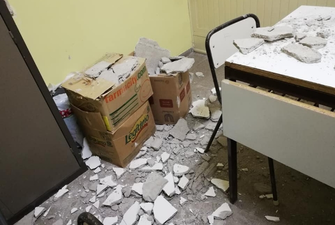 Un derrumbe pone en peligro a los alumnos la escuela de Huerta de Huachi