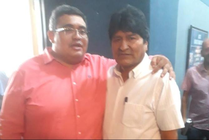 Un sindicalista sanjuanino expresó su apoyo a Evo Morales