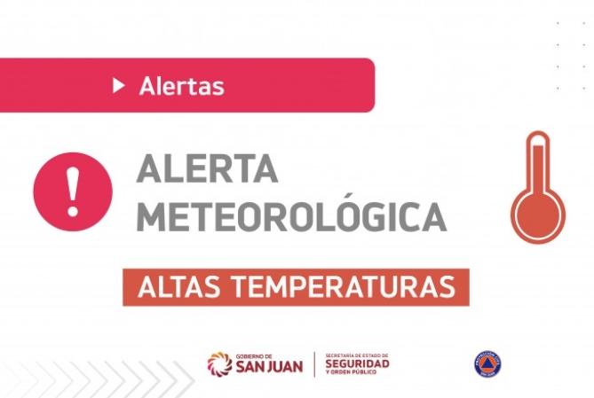 Emiten alerta meteorológica para hoy y mañana por calor extremo