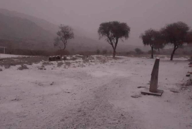 La primera ola polar pintó de blanco a Jáchal, Iglesia y el Valle