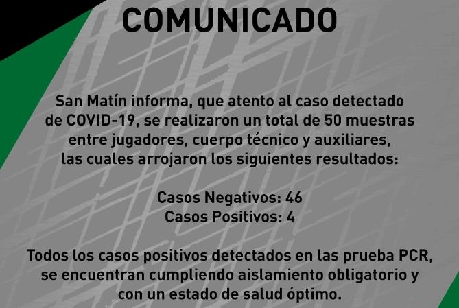 Confirman cuatro nuevos casos de Covid en San Martín