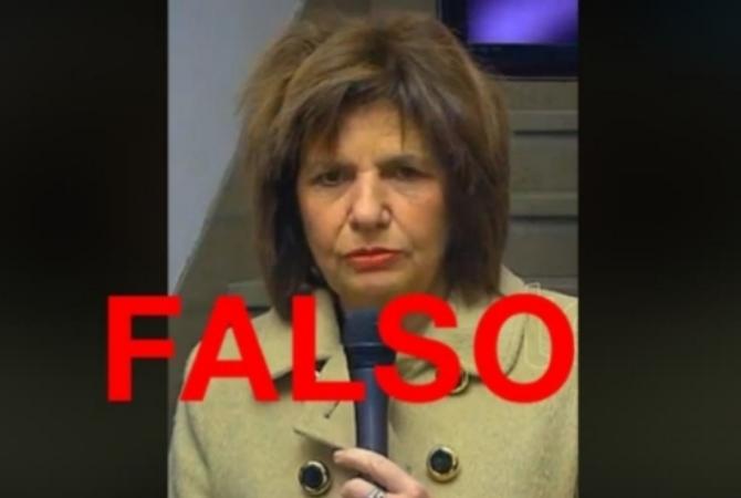 Manipularon un video de Patricia Bullrich para hacerla parecer borracha