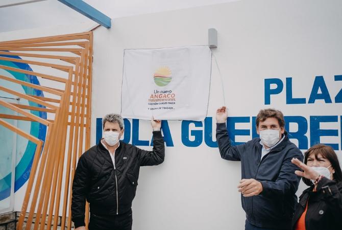 En Angaco, Uñac anunció la pavimentación de calle Divisoria