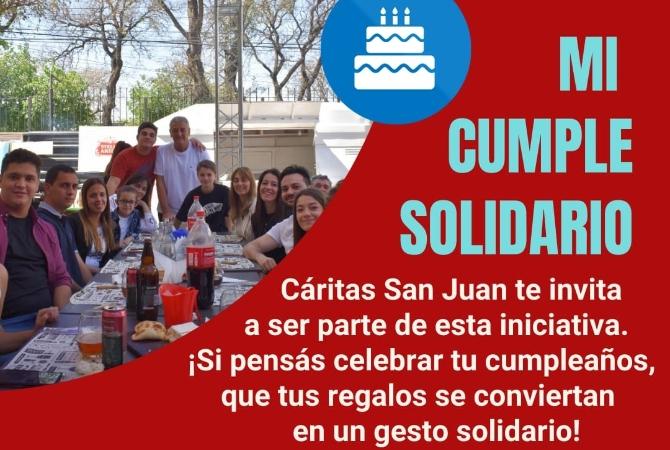 'Mi cumple solidario', la interesante propuesta de Cáritas San Juan