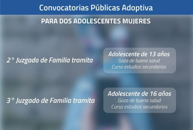 Convocatoria pública para adoptar a dos adolescentes