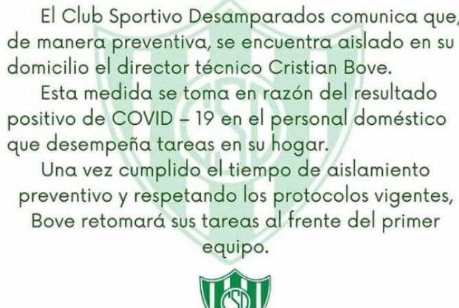 El DT de Sportivo, aislado por contacto estrecho de un caso de Covid