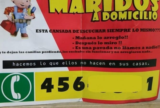 En Mendoza, ofrecen maridos a domicilio