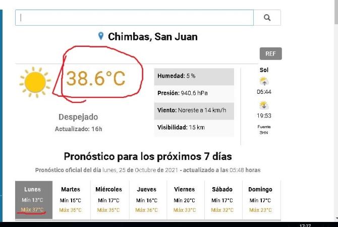 Con 38.6 grados a las 17 horas, San Juan arde