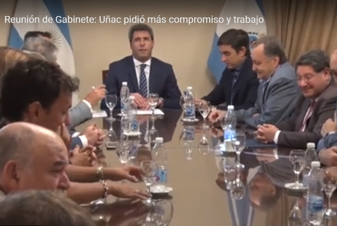 Uñac le pidió a sus ministros más compromiso y trabajo