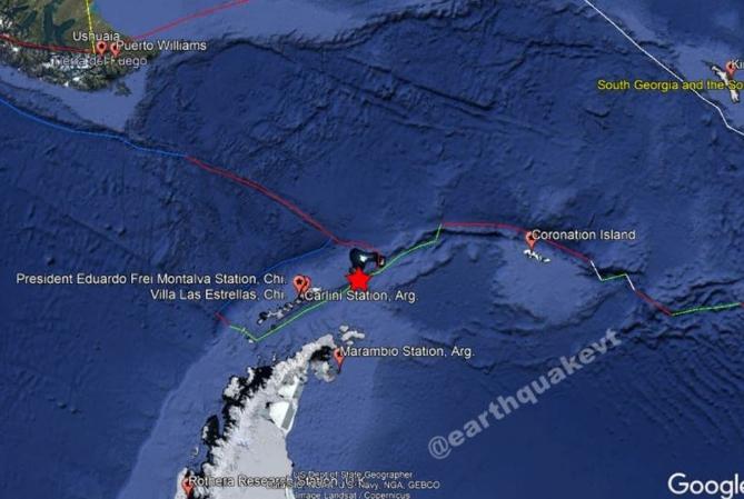 El terremoto en la Antártida no generó problemas en las bases argentinas