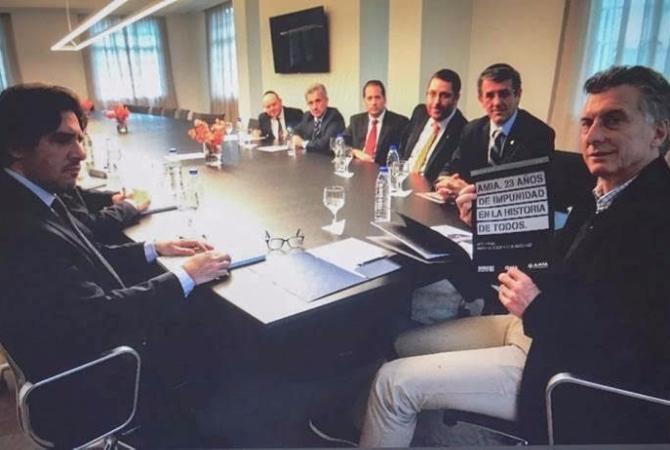 El presidente Macri recibió a autoridades de AMIA