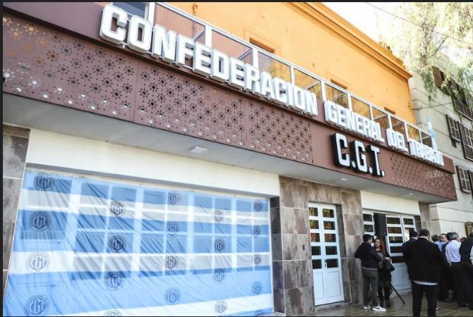 La CGT San Juan celebró el 1 de mayo inaugurando obras en su casa